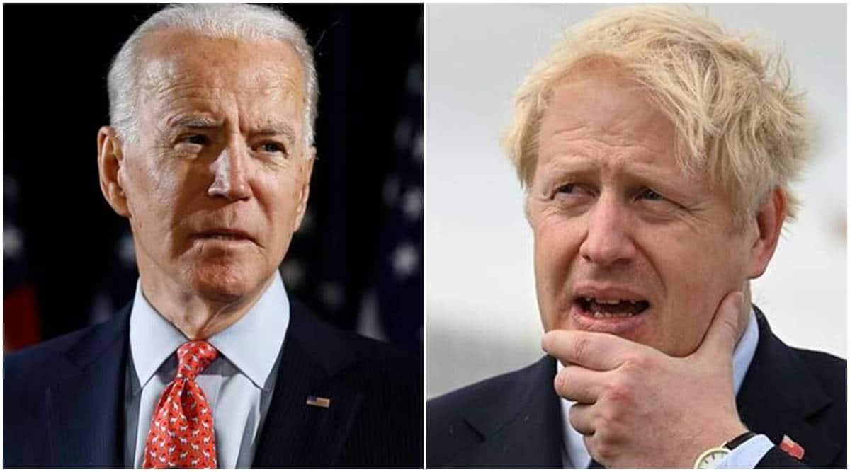 Joe Biden, Boris Johnson, Biden-Johnson meet, US news, world news, Indian express