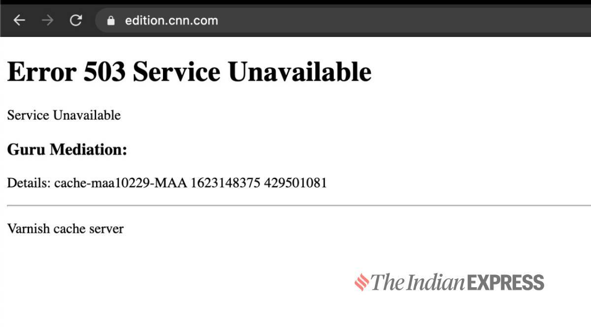 Internet down, Fastly outage, NYT down, reddit down, Guardian down, Amazon down, Amazon outage, Internet outage