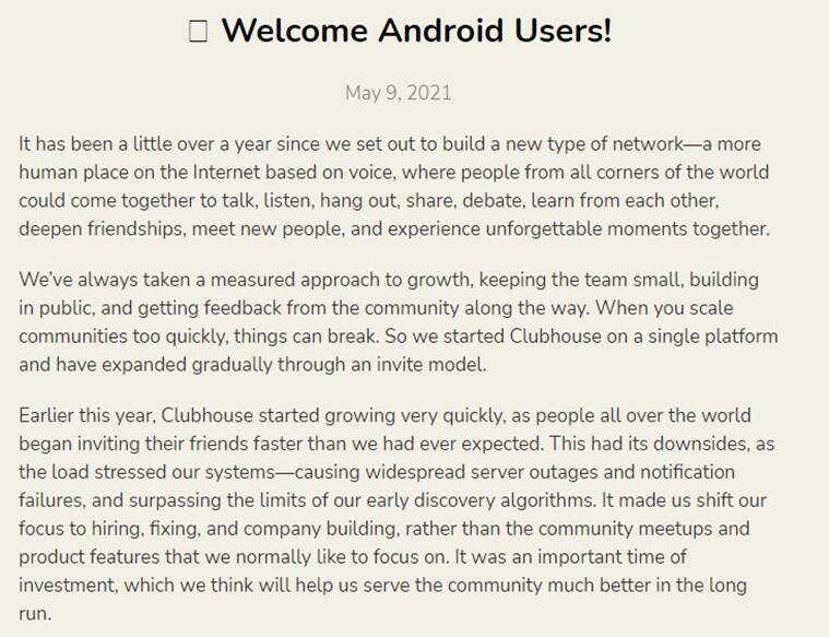 Clubhouse, Clubhouse app, Clubhouse application, Clubhouse users, Clubhouse downloads, Clubhouse in Kerala, Clubhouse popularity in Kerala, Clubhouse Malayalam discussions, Clubhouse creators Paul Davison, Rohan Seth, Clubhouse Malayalam Hallway, Social media viral, Indian Express news