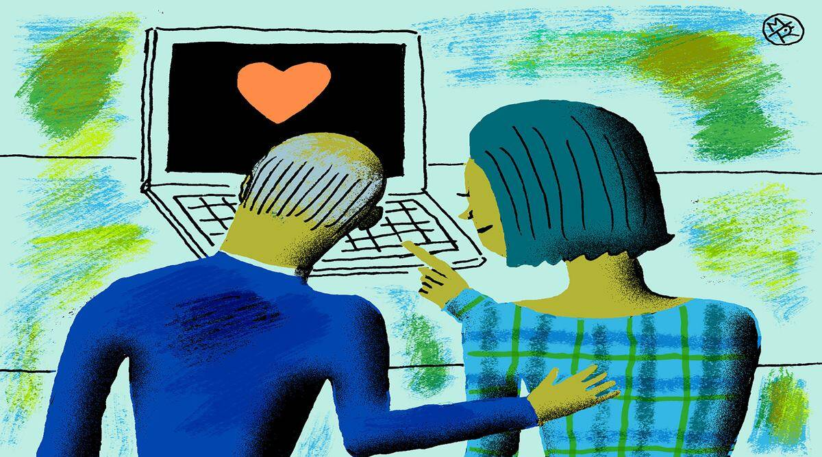 virtual dating on Tinder, dating at 70 on Tinder, online dating apps, New York Times online dating, finding a date online, indianexpress.com