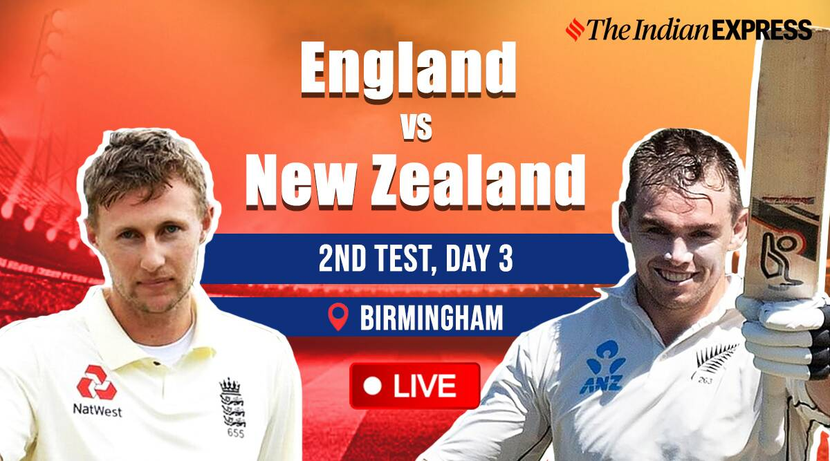 England vs New Zealand 2nd Test Day 3 Live Cricket Score: NZ in control