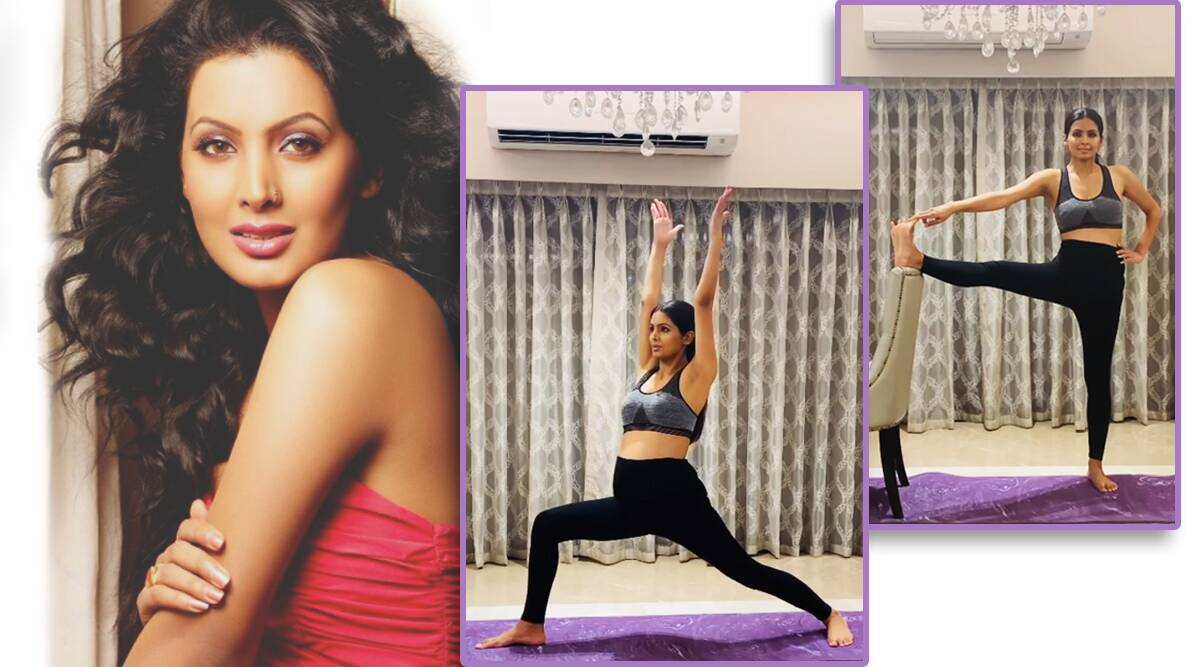 pregnancy yoga, geeta basra, fitness goals, celeb fitness, geeta basra pregnant, yoga in pregnancy, indianexpress.com, how to be active in pregnancy, indianexpress,