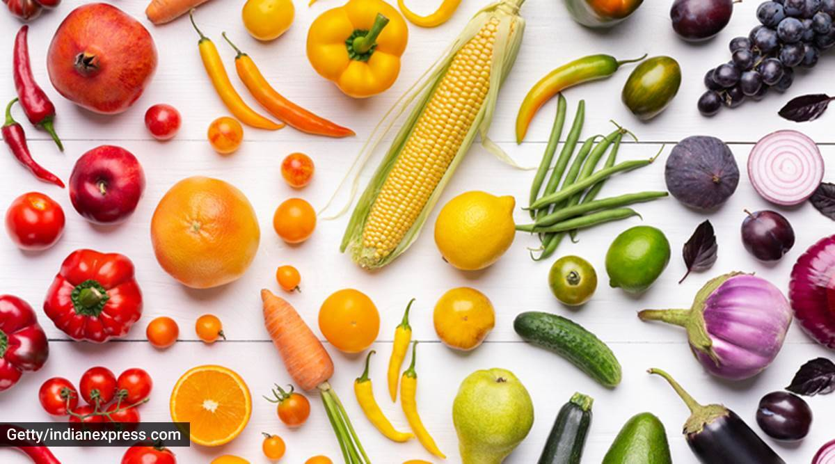 rainbow foods, rainbow fruits and vegetables, healthy eating, healthy eating for kids, colourful foods, colourful fruits and vegetables, parenting, indian express news