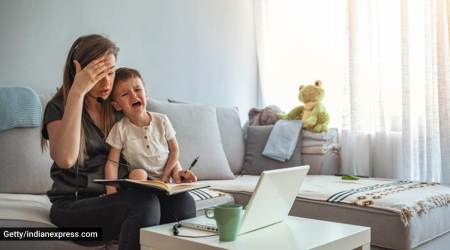 work from home, how to balance work from home and kids, guidelines and tips for parents working from home, work from home activities for kids, how to keep kids engaged at home, parenting, indian express news
