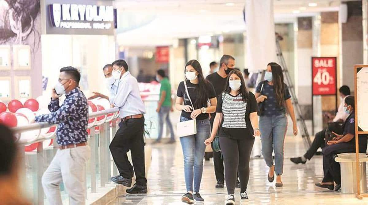 Gurgaon, Covid-19 India Second Wave, malls, Gurgaon coronavirus cases, Gurgaon malls open, gurgaon ambience mall, gurgaon central mall, gurgaon news, Delhi latest news, indian express