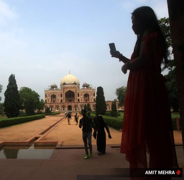 Express Wanderlust, Humayun's Tomb, Humayun's Tomb Delhi, Humayun's Tomb pictures, visiting Humayun's Tomb, Delhi monuments unlock, centrally protected site, opens with restrictions, indianexpress.com, Indian Express news
