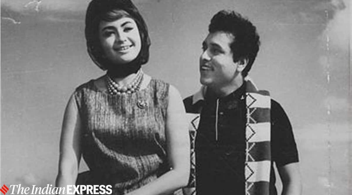 Helen and actor Chandrashekhar in film Cha Cha Cha