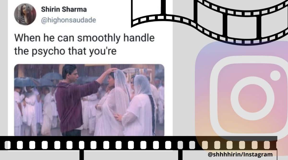 Kabhi Khushi Kabhi Gham, Kabhi Khushi Kabhi Gham memes, Kabhi Khushi Kabhi Ghamshah rukh khan kajol memes, Srk kajol memes, Bollywood movie memes, k3g, k3g memes, k3g srk kajol scene, k3g srk kajol proposal scene, k3g srk kajol viral memes, Bollywood memes, Trending news, Indian Express news