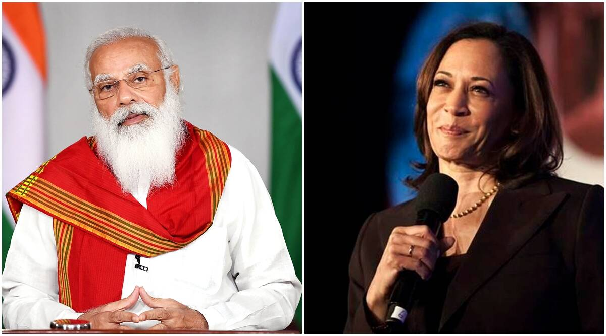 Prime Minister Modi speaks to Vice President Kamala Harris of the USA