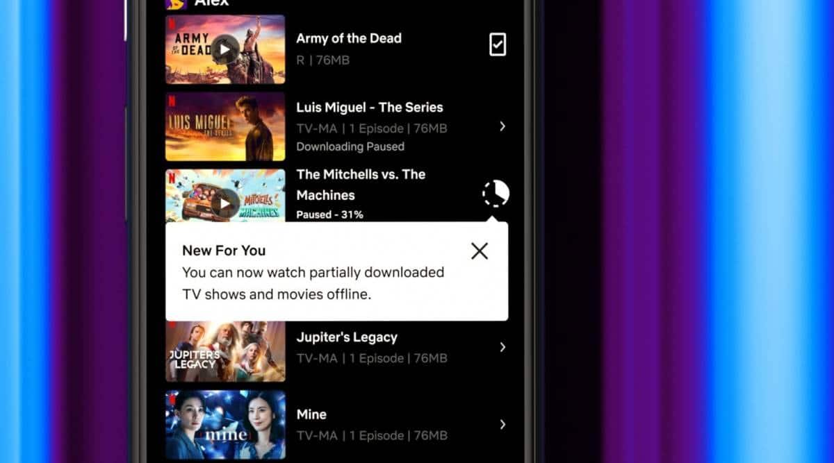 Netflix, Netflix Partial Downloads, Netflix Downloads, Netflix downloads feature, Netflix Download feature on Android