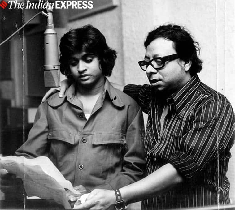 RD Burman with kishore kumar son