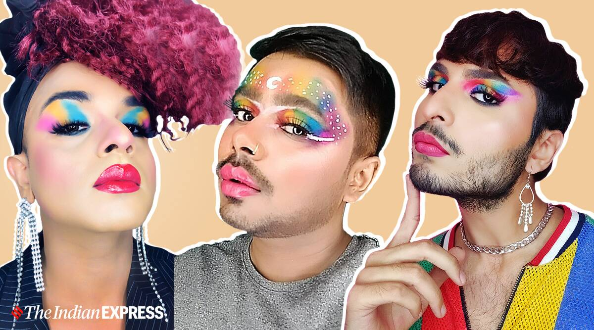 Pride makeup, what is Pride makeup, significance of Pride makeup, meaning of Pride makeup, Pride makeup artists, Pride Month, Pride Month 2021, indian express news
