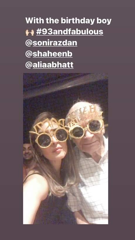 Riddhima Kapoor with alia grandfather