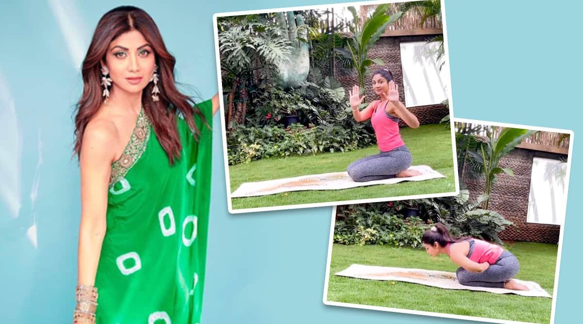 shilpa shetty kundra news, yoga asana, mandukasana benefits, how to do mandukasana, shilpa shetty kundra yoga news, fitness goals, how to combat weakness in teh body, indianexpress.com, indianexpress,