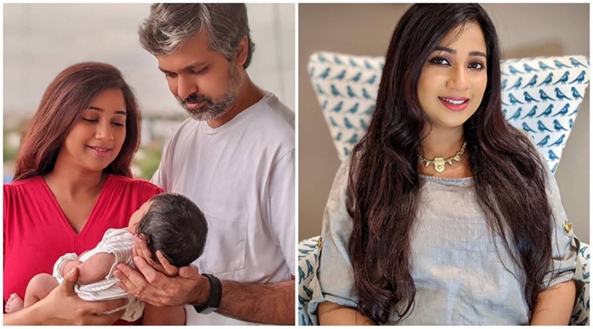 Shreya Ghoshal has named her newborn son Devyaan and shared her first family photo