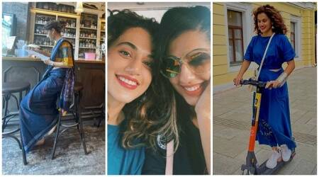 Taapsee Pannu Saree Moscow photo of her 'partner' sister shagun