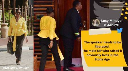 Tanzania MP, Tight-fitting pants, Female MP removed from Tanzania Parliament for wearing tight pants,Twitter reaction, Trending news, Indian Express news