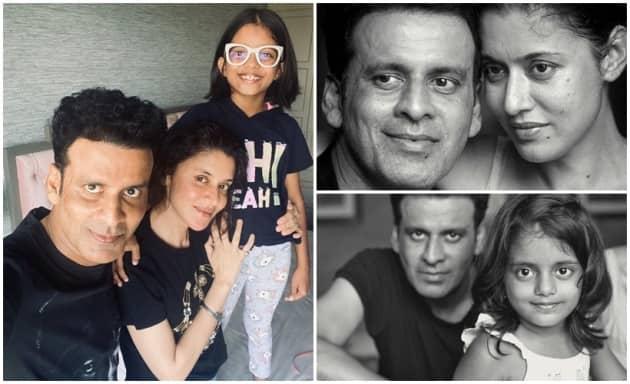 The Family Man Manoj Bajpayee See 12 photos with real wife Shabana, daughter Ava Nayla