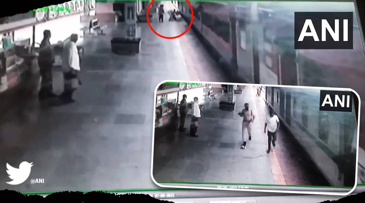 RPF personnel receives praise for saving man from falling under moving train