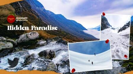 Arunachal Pradesh, Upper Siang district pictures, Chowna Mein Siang district pictures, Chowna Mein twitter, Upper Siang district scenic beauty, Trending news, indian express news