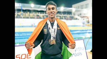 S P Likith, swimming, Bengaluru, Uzbekistan, Olympic qualifier, FINA, indian swimmer, indian swimmer in Olympics, Olympics qualifiers, Olympics news, india news, indian express