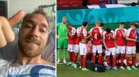 'I feel okay': Christian Eriksen in his first social media post after on-field collapse