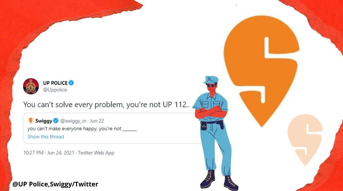 UP police twitter reply, Swiggy fill in the blanks game, Swiggy, you can't make everyone happy tweet, UP police you can't make everyone happy, UP police 112 helpline number, Swiggy twitter game, Trending news, Indian Express news