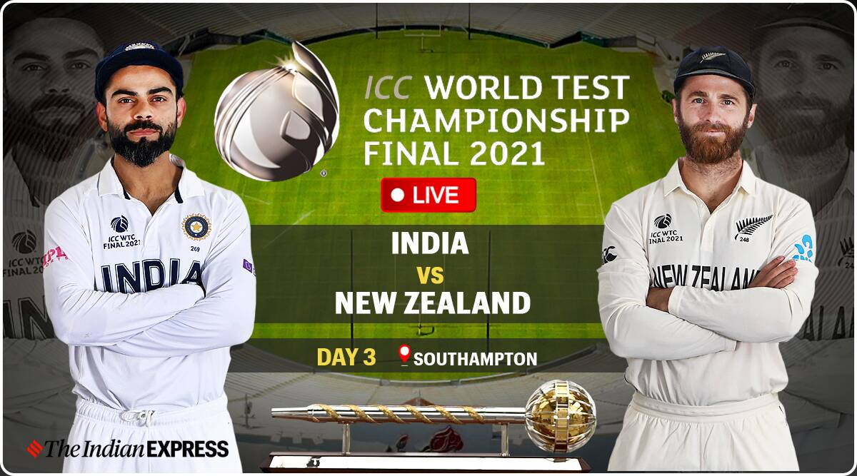 India vs New Zealand WTC Final Day 3 Live