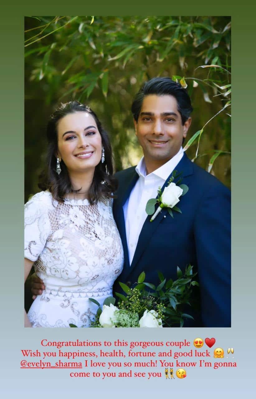 evelyn sharma fotos de boda