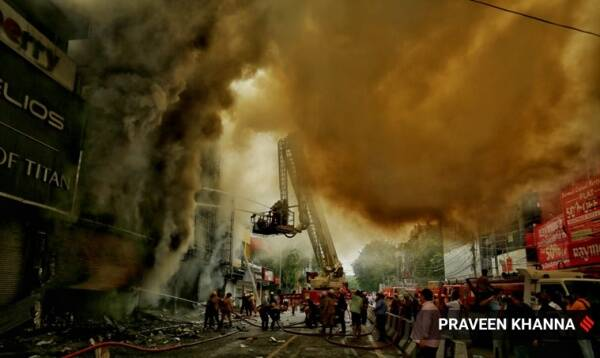 Lajpat Nagar fire, fire incident at Lajpat Nagar