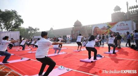 International Yoga Day, International Day of Yoga, Yoga Day celebrations 2021, Yoga Day celebrations around the country, Yoga Day gallery, Yoga Day pictures, indian express news