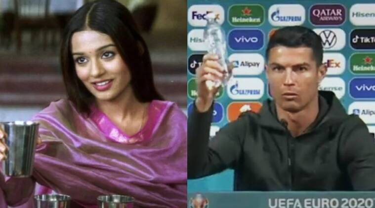 Amrita Rao offers 'jal' to Cristiano Ronaldo after his Coca Cola snub, asks 'Wat'er you saying?' thumbnail