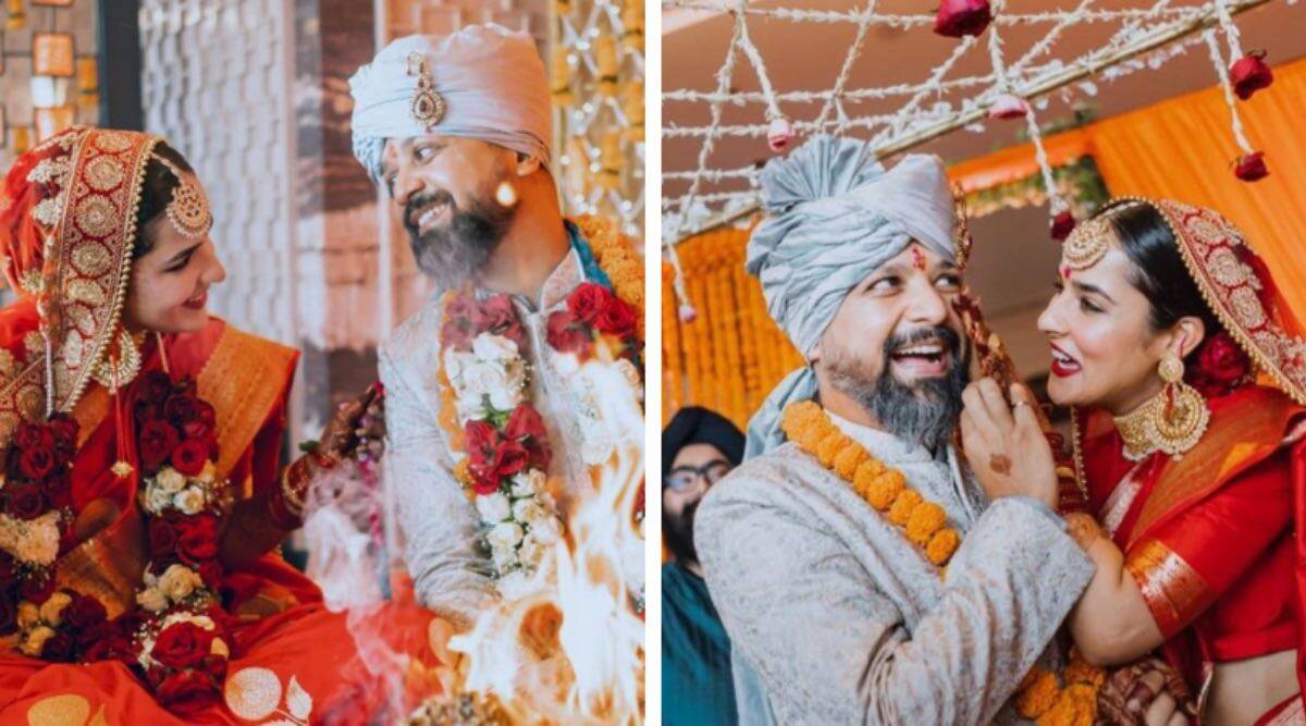 Angira Dhar and Anand Tiwari got married in April (Photo: Instagram/ Anand Tiwari, Angira Dhar)