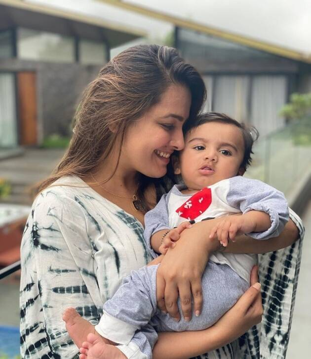 anita with son