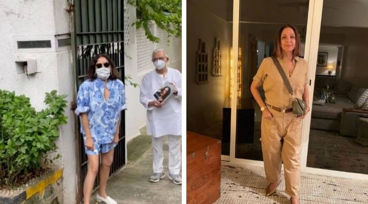 Neena Gupta dropped by Gulzar's house to give her book