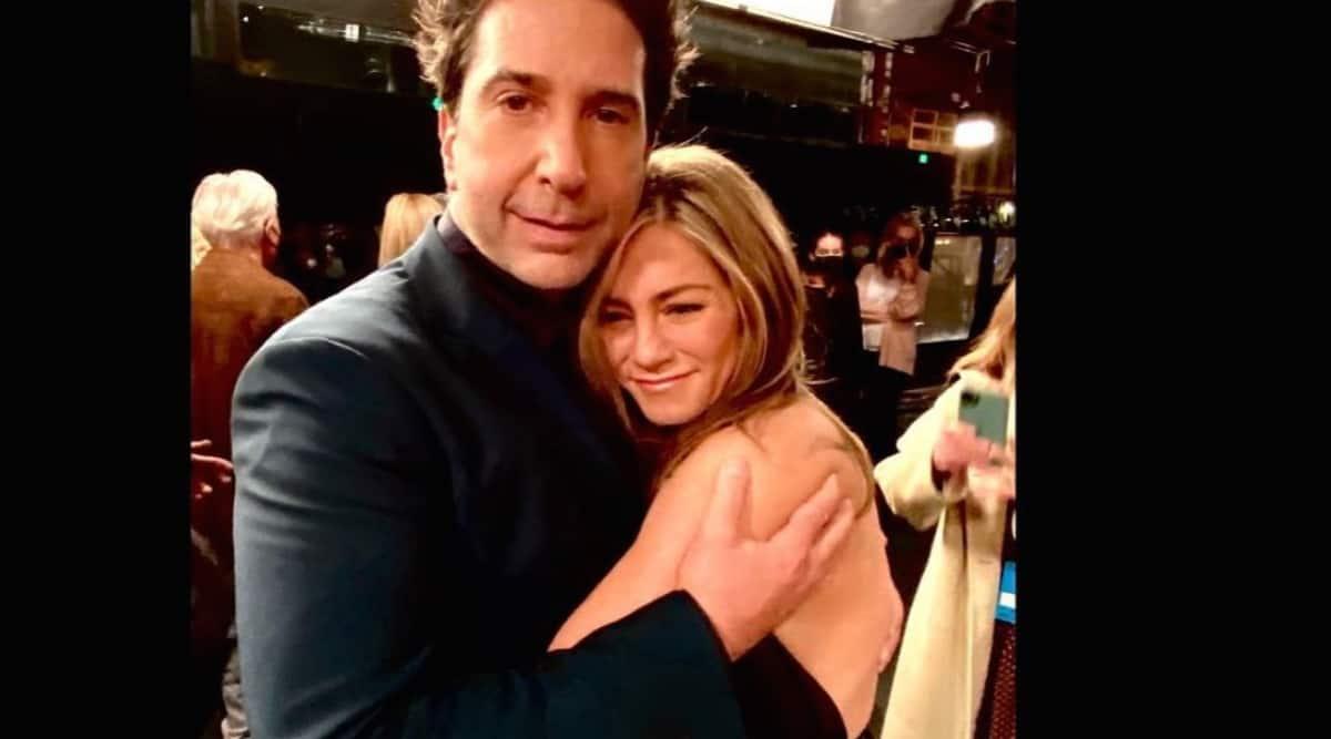 David Schwimmer and Jennifer Aniston
