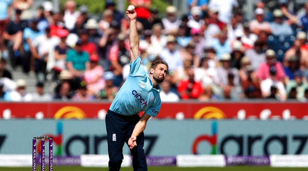 England's Chris Woakes bowls a delivery during the first one day international cricket match between England and Sri Lanka, in Chester-le-Street. (AP Photo)