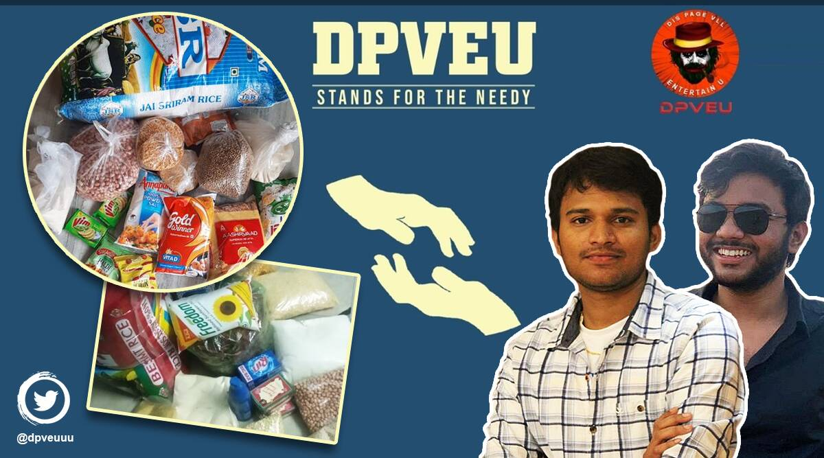 covid, covid-19, covid-19 relief work, Hyderabad, DPVEU, meme page pitch Covid-relief, memes, twitter meme page, trending news, indian express news