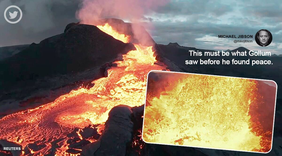 Drone crashes into erupting Icelandic volcano, netizens queues up to see what happens next