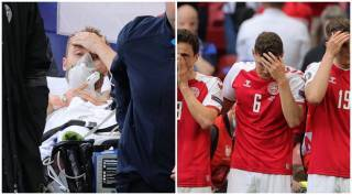 Christian Eriksen collapse: Harrowing moments as Denmark midfielder given CPR on pitch