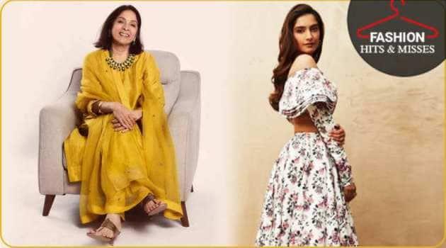 vidya balan, sonam kapoor, vidya balan photos, neena gupta photos, fashion hits and misses, vidya balan, indian express, indian express news