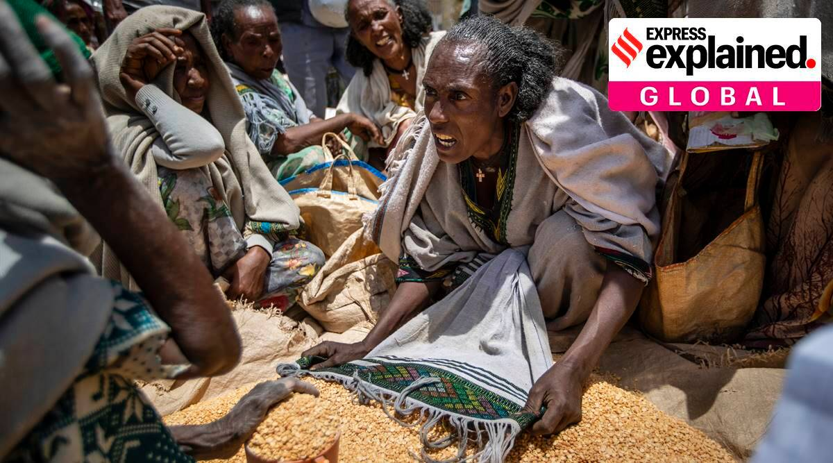 famine conditions in Tigray, Tigray crisis, Ethiopia news, Explained, Explained Global, Abiy Ahmed, Ethiopia government, Tigray region, Eritrea region, world news, indian express