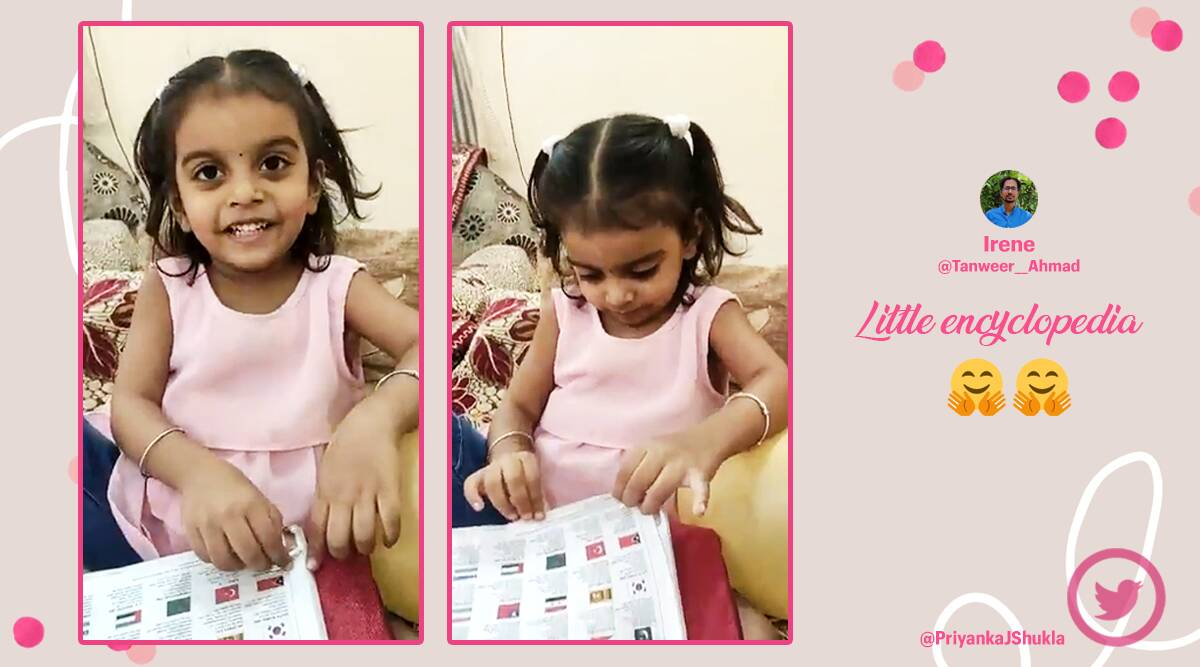 geography kid, girl knows all countries capitals, little girl memorises capitals of countries, viral videos, talented children videos, indian express