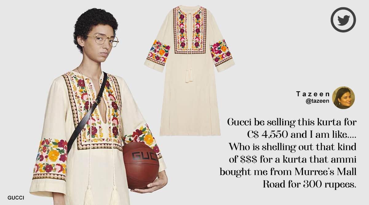 Gucci, Gucci kurtas, Gucci overpriced kurta, Gucci Indian kurta, Gucci Indian kurta 2.5 lakh, 2.5 lakh Gucci kurta, Trending news, Indain Express news