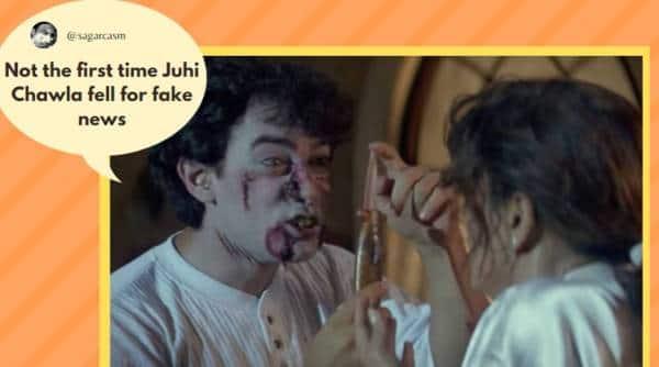 Juhi Chawla, Juhi Chawla petition against 5g, Delhi HC, Indian Express, 5G technology, Juhi Chawla suit, Juhi Chawla suit against 5G, delhi news, delhi latest news, delhi today news, delhi local news, new delhi news, uhi Chawla suit against 5G memes