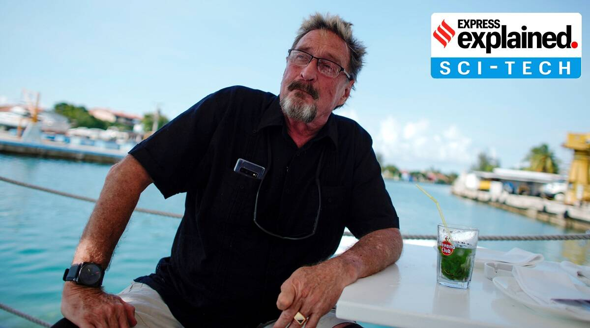Explained: The story of John McAfee, for long synonymous with anti-virus software, and his extraordinary life - The Indian Express