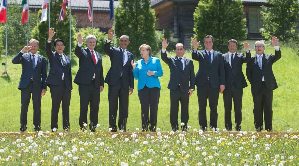 Angela Merkel, anchor of European stability, stays focused at her final G-7