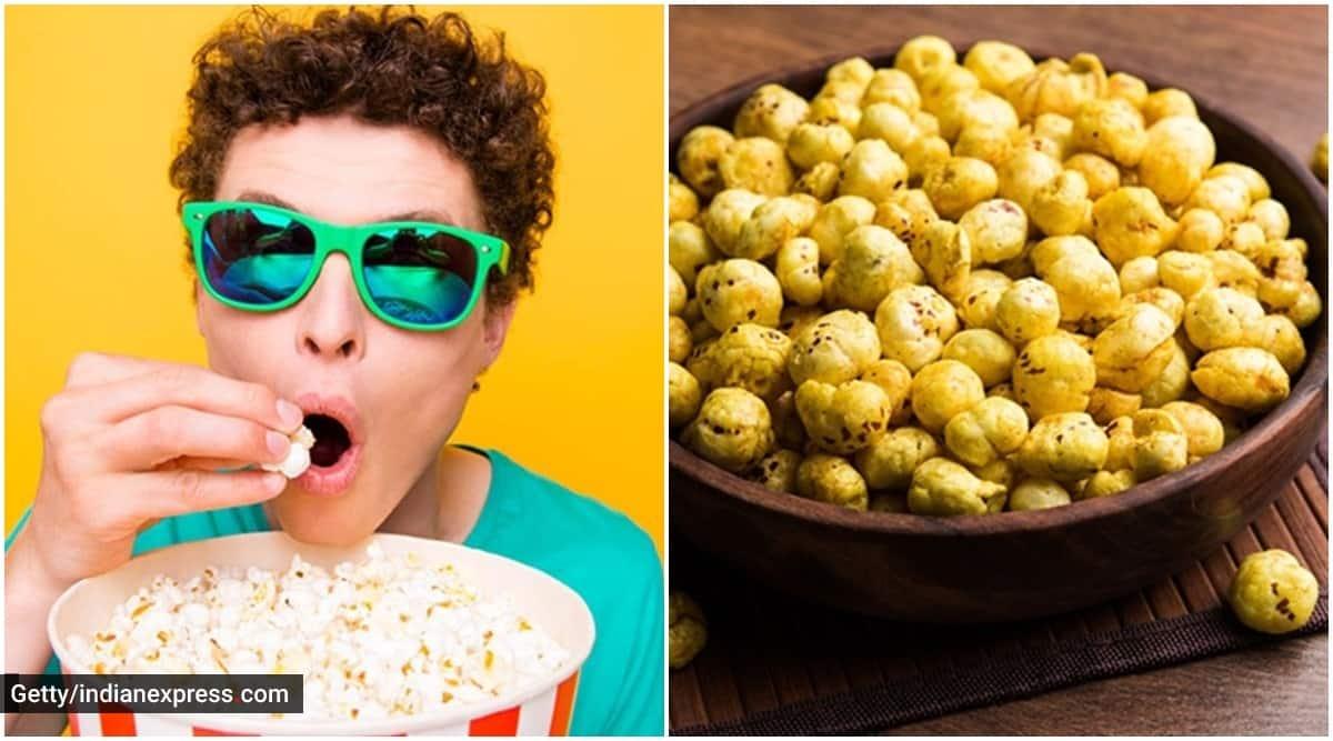 foxnuts vs popcorn, popcorn nutrition, foxnuts benefits, indianexpress.com, indianexpress, foxnuts nutrition profile, nmami agarwal, pooja makhija,