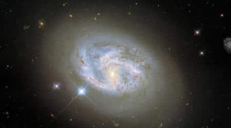 NASA, NASA spiral galaxy, NASA NGC 4680, NASA Hubble's Wide Field Camera 3, NASA observations, spiral galaxy NGC 4680, NASA news,