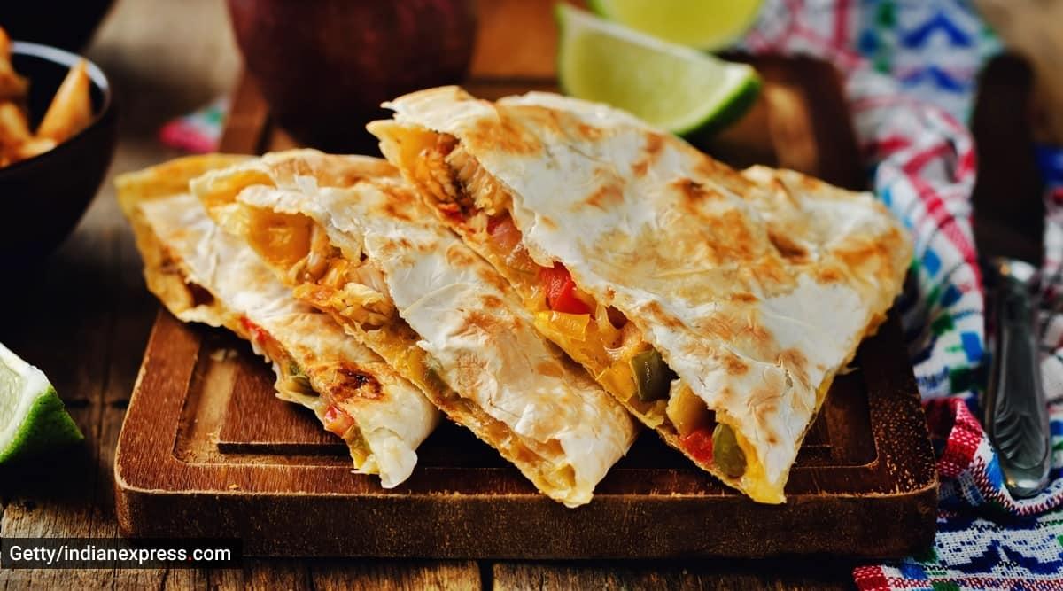 baked beans quesadillas, quesadilla easy recipes, easy mexican recipes, indianexpress.com, indianexpress, meghna kamdar recipes, snack recipes,